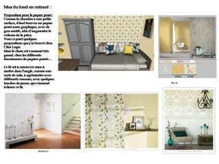 Choix de la tapisserie: Chambre de style  par L'Oeil DeCo