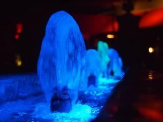 fuentesycascadas Bares y clubs de estilo moderno de Water Life S.A Moderno