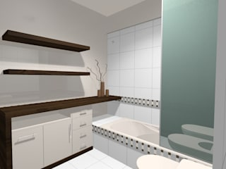 Bathroom by laura zilinski arquitecta, Minimalist