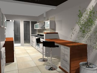 Kitchen by laura zilinski arquitecta, Modern