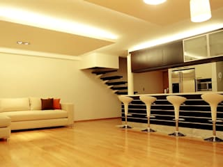 RIMA Arquitectura Modern living room Wood