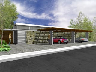 Garage/shed by RIMA Arquitectura, Modern
