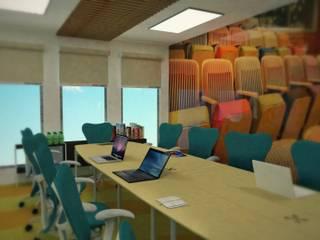 Remodelación corporativo: Salas multimedia de estilo  por Ingenieros y Arquitectos Continentes