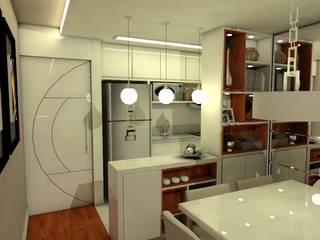 Ambientação Apartamento:   por Deise Luna Arquitetura