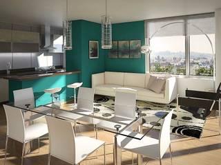 Arcadia 5: Livings de estilo  por Arcadia Arquitectura