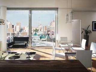 Salas de estar  por Arcadia Arquitectura,