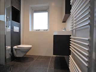 AGZ badkamers en sanitair BathroomBathtubs & showers Tiles Black