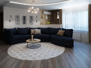 ДизайнМастер Ruang Keluarga Minimalis