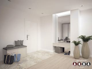 Minimalist corridor, hallway & stairs by Дизайн-студия Анны Игнатьевой Minimalist