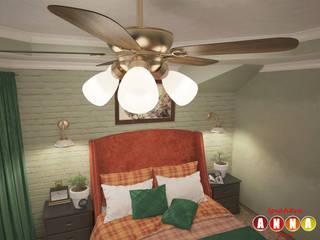 Colonial style bedroom by Дизайн-студия Анны Игнатьевой Colonial