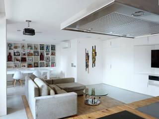 Refugio para dos BELVEDERE CAPITAL Salones de estilo moderno Blanco