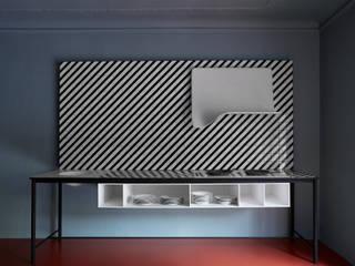 Sipario di Ellen Bernhardt, vincitore del Cristalplant Design Contest 2016: Cucina in stile in stile Minimalista di CRISTALPLANT