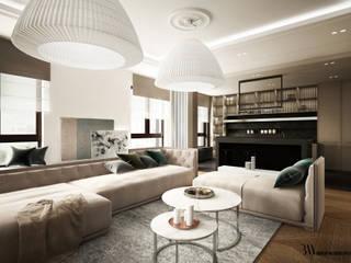 Apartament w Wilanowie Klasyczny salon od Bartek Włodarczyk Architekt Klasyczny