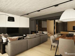 Dom na Białołęce: styl , w kategorii Salon zaprojektowany przez Bartek Włodarczyk Architekt