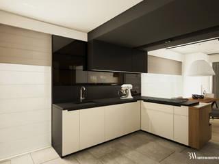 Dom na Białołęce Minimalistyczna kuchnia od Bartek Włodarczyk Architekt Minimalistyczny