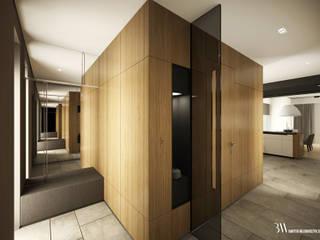 Pasillos, vestíbulos y escaleras de estilo minimalista de Bartek Włodarczyk Architekt Minimalista