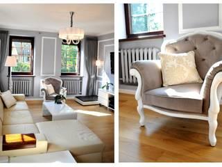 pokój dzienny: styl , w kategorii Salon zaprojektowany przez 4-style Studio Projektowe Anna Molin