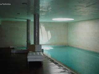 Casa Tashmina Piscinas de estilo moderno de ESTUDI D'ARQUITECTURA XAVIER CLIMENT Moderno