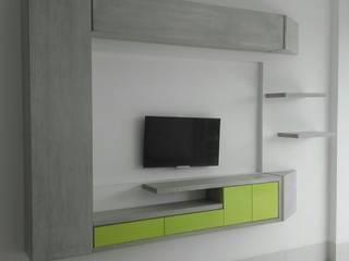 Ruang Keluarga Modern Oleh La Carpinteria - Mobiliario Comercial Modern