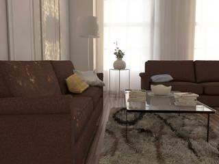 Modello salotto 3D+ Render: Soggiorno in stile  di W & E srl