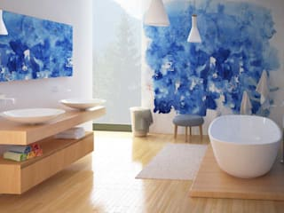 Modello salotto 3D+ Render: Bagno in stile  di W & E srl