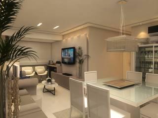 Apartamento P   J: Salas de estar  por Tárcyla & Savane Arquitetas Associadas