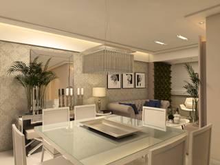 Apartamento P   J: Salas de jantar  por Tárcyla & Savane Arquitetas Associadas