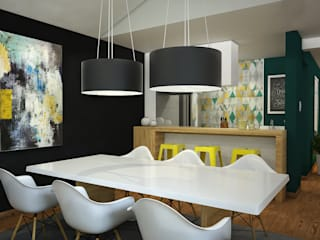 Kuro Design Studio Scandinavian style dining room