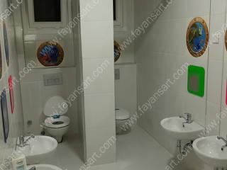 Baskılı Anaokulu Fayans Projesi FayansArt Modern Banyo Seramik Rengarenk