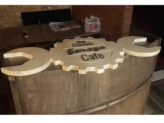 Deco Wood Butik Tasarım Atölyesi – Garage cafe kasa bankosü: modern tarz , Modern
