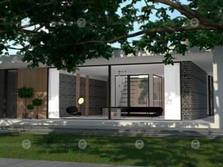 Лесной дом Дома в стиле минимализм от Studio Fareni Минимализм