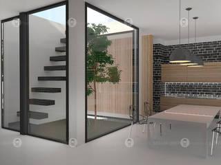 Лесной дом Гостиная в стиле минимализм от Studio Fareni Минимализм