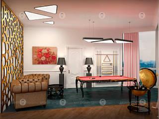 """Пентхаус """"Седьмой континент"""" Медиа комнаты в эклектичном стиле от Studio Fareni Эклектичный"""
