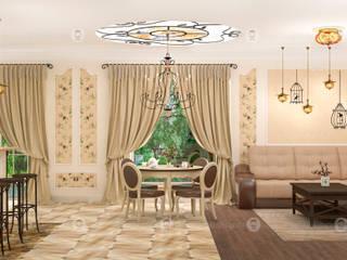 Кухня, гостиная : Столовые комнаты в . Автор – Studio Fareni