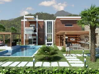 THAI VILLAS: Piscina in stile  di Enrico Pitimada Architetto