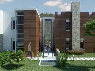 THAI VILLAS: Ingresso & Corridoio in stile  di Enrico Pitimada Architetto