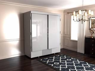 Шубный холодильник в белом цвете:  в . Автор – Beauty&Cold