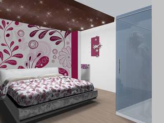 duplex dinamico Camera da letto moderna di Renato Carere Moderno