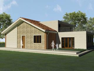 casa in collina Case in stile rustico di Renato Carere Rustico