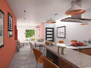Cocinas de estilo  de Laboratorio Mexicano de Arquitectura, Minimalista Hormigón