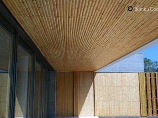 BAMBU CARBONO ZERO Modern Terrace Bamboo Wood effect