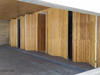 BAMBU CARBONO ZERO Modern Garage and Shed Bamboo Wood effect