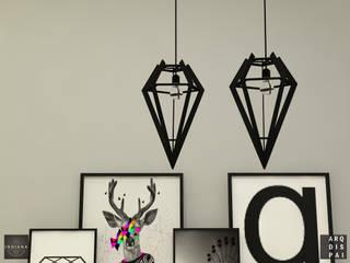 Salones de estilo escandinavo de Arquitecto Ariel Ramírez Escandinavo