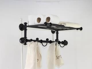 Toallero percha, accesorios de baño, ideas para decorar tu hogar:  de estilo industrial de Artehierro Deco, Industrial