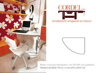 scrivania angolare di CORDEL s.r.l. Moderno Legno Effetto legno