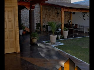 Cabaña Balcones y terrazas rústicos de Arquitectura Especializada Nueva Vizcaya Rústico