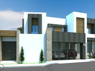 現代房屋設計點子、靈感 & 圖片 根據 Acrópolis Arquitectura 現代風 石器