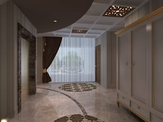 Classic style corridor, hallway and stairs by Mimoza Mimarlık Classic