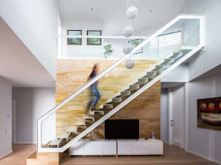 Casa E | 08023 architects: Pasillos y vestíbulos de estilo  de Simon Garcia | arqfoto
