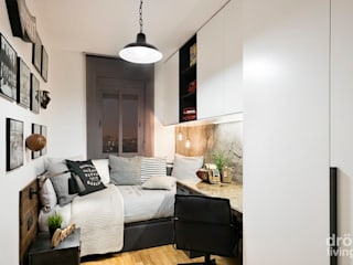 Industrial style bedroom by Dröm Living Industrial